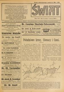 Świat : pismo tygodniowe ilustrowane poświęcone życiu społecznemu, literaturze i sztuce. R. 14 (1919), nr 9 (1 marca)