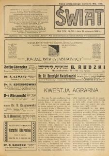 Świat : pismo tygodniowe ilustrowane poświęcone życiu społecznemu, literaturze i sztuce. R. 14 (1919), nr 26 (28 czerwca)