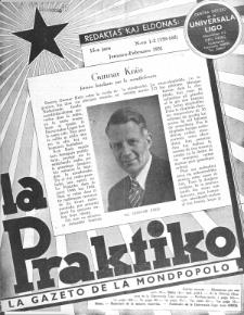 La Praktiko : la gazeto, kiu instruas kaj amuzas. Jaro 15a, nr 1/2=159/160 (1951)