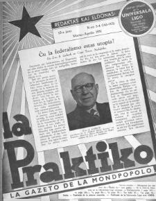 La Praktiko : la gazeto, kiu instruas kaj amuzas. Jaro 15a, nr 3/4=161/162 (1951)