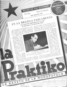 La Praktiko : la gazeto, kiu instruas kaj amuzas. Jaro 15a, nr 7/9=165/167 (1951)