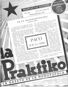 La Praktiko : la gazeto, kiu instruas kaj amuzas. Jaro 15a, nr 10/12=168/170 (1951)