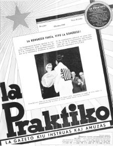 La Praktiko : la gazeto, kiu instruas kaj amuzas. Jaro 28a, nr 10=324 (1964)