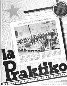 La Praktiko : la gazeto, kiu instruas kaj amuzas.Jaro 29a, nr 1=327 (1965)