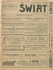 Świat : pismo tygodniowe ilustrowane poświęcone życiu społecznemu, literaturze i sztuce. R. 15 (1920), nr 35 (28 sierpnia)