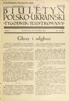 Biuletyn Polsko-Ukraiński. T. 5, R. 5, nr 4=143 (26 Stycznia 1936)