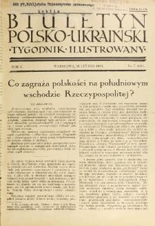 Biuletyn Polsko-Ukraiński. T. 5, R. 5, nr 7=146 (16 Lutego 1936)