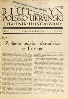 Biuletyn Polsko-Ukraiński. T. 5, R. 5, nr 8=147 (23 Lutego 1936)
