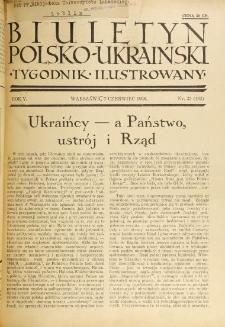 Biuletyn Polsko-Ukraiński. T. 5, R. 5, nr 23=162 (7 Czerwiec 1936)