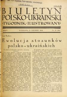 Biuletyn Polsko-Ukraiński. T. 5, R. 5, nr 25=164 (21 Czerwca 1936)