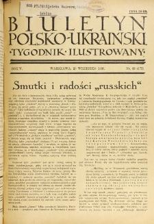 Biuletyn Polsko-Ukraiński. T. 5, R. 5, nr 38=177 (20 Wrzesień 1936)