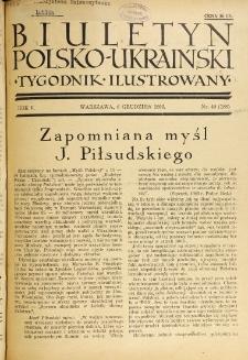 Biuletyn Polsko-Ukraiński. T. 5, R. 5, nr 49=188 (6 Grudzień 1936)