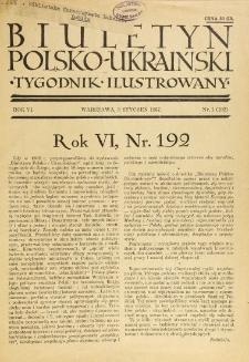 Biuletyn Polsko-Ukraiński. T. 6, R. 6, nr 1=192 (3 Styczeń)