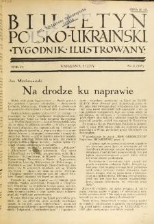 Biuletyn Polsko-Ukraiński. T. 6, R. 6, nr 6=197 (7 Luty 1937)
