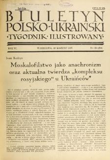 Biuletyn Polsko-Ukraiński. T. 6, R. 6, nr 13=204 (29 Marzec 1937)