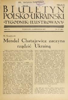 Biuletyn Polsko-Ukraiński. T. 6, R. 6, nr 17=208 (25 Kwiecień 1937)