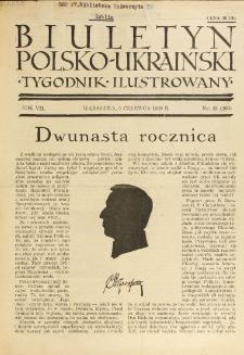 Biuletyn Polsko-Ukraiński. T. 7, R. 7, nr 23=262 (5 Czerwca 1938)