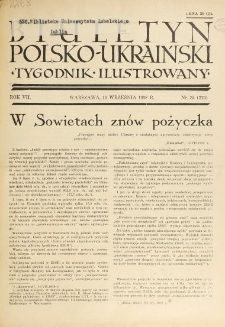 Biuletyn Polsko-Ukraiński. T. 7, R. 7, nr 34=273 (11 Września 1938)