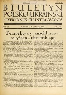 Biuletyn Polsko-Ukraiński. T. 7, R. 7, nr 35=274 (18 Września 1938)