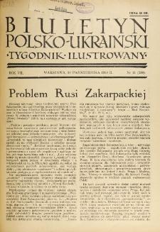 Biuletyn Polsko-Ukraiński. T. 7, R. 7, nr 41=280 (30 Października 1938)