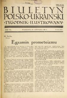 Biuletyn Polsko-Ukraiński. T. 7, R. 7, nr 45=284 (27 Listopada 1938)