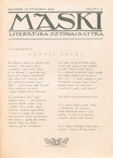 Maski : literatura, sztuka i satyra. 1918, z. 2 (10 stycznia)