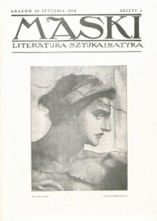 Maski : literatura, sztuka i satyra. 1918, z. 3 (20 stycznia)