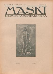 Maski : literatura, sztuka i satyra. 1918, z. 18 (20 czerwca)