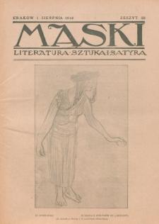Maski : literatura, sztuka i satyra. 1918, z. 22 (1 sierpnia)