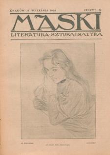 Maski : literatura, sztuka i satyra. 1918, z. 26 (10 września)
