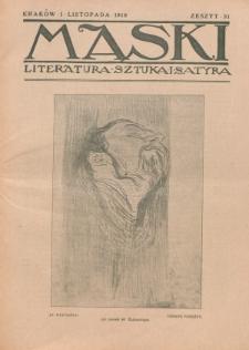 Maski : literatura, sztuka i satyra. 1918, z. 31 (1 listopada)
