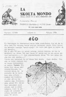 La Scolta Mondo. Vol. 6, n. 3 (1984)