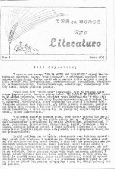 Tra la Mondo kaj literaturo.Nr 6 (1950)