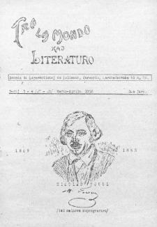 Tra la Mondo kaj literaturo.Jaro 3, Nr 3/4=27/28 (1952)
