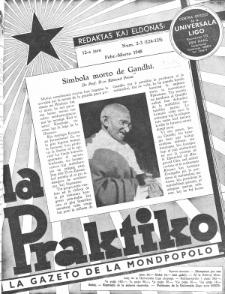 La Praktiko : la gazeto, kiu instruas kaj amuzas. Jaro 12a, num. 2/3=124/125 (1948)