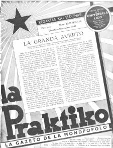 La Praktiko : la gazeto, kiu instruas kaj amuzas. Jaro 12a, num. 10/11=132/133 (1948)