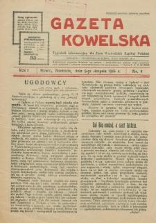 Gazeta Kowelska : tygodnik informacyjny dla Ziem Wschodnich Rzeczypospolitej Polskiej. R. 1, no 4 (1925)