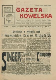 Gazeta Kowelska : tygodnik informacyjny dla Ziem Wschodnich Rzeczypospolitej Polskiej. R. 1, no 5 (1925)