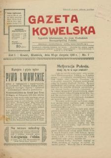 Gazeta Kowelska : tygodnik informacyjny dla Ziem Wschodnich Rzeczypospolitej Polskiej. R. 1, no 7 (1925)