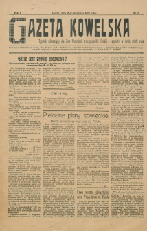 Gazeta Kowelska : tygodnik informacyjny dla Ziem Wschodnich Rzeczypospolitej Polskiej. R. 1, no 8 (1925)