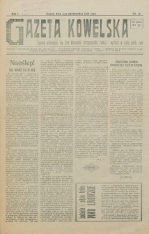 Gazeta Kowelska : tygodnik informacyjny dla Ziem Wschodnich Rzeczypospolitej Polskiej. R. 1, no 12 (1925)
