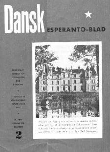 Dansk Esperanto Blad : engivet af Esperantistforeningen for Denmark : eldonala de Centra dana Esperantista Ligo. Arg 30, nr 2 (1958)