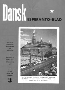 Dansk Esperanto Blad : engivet af Esperantistforeningen for Denmark : eldonala de Centra dana Esperantista Ligo. Arg 30, nr 3 (1958)