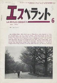 La Revuo Orienta.Jaro 43a, No 6 (1962)