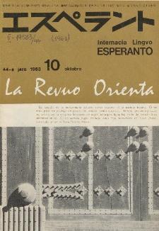La Revuo Orienta.Jaro 44a, No 10 (1963)