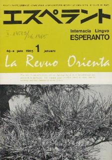 La Revuo Orienta.Jaro 46a, No 1 (1965)