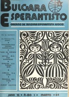 Bulgara Esperantisto. Jaro 53, n. 3 (1984)