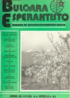 Bulgara Esperantisto. Jaro 53, n. 4 (1984)
