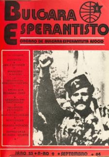 Bulgara Esperantisto. Jaro 53, n. 9 (1984)