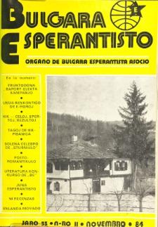 Bulgara Esperantisto. Jaro 53, n. 11 (1984)